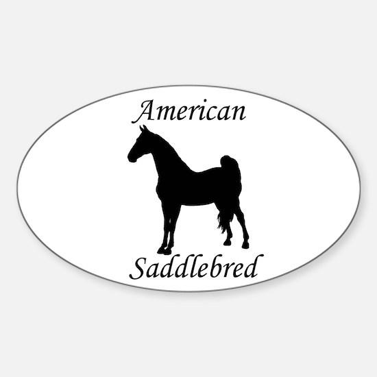 American Saddlebred Oval Decal