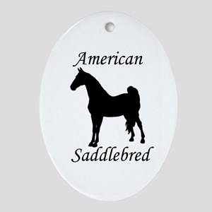 American Saddlebred Oval Ornament