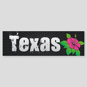 Texas Hibiscus Bumper Sticker