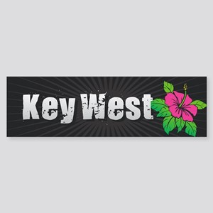 Key West Hibiscus Bumper Sticker