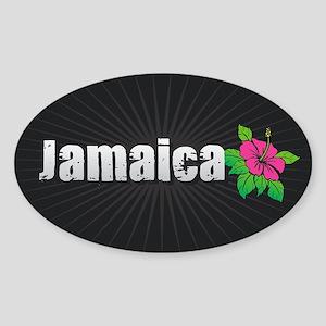 Jamaica Hibiscus Sticker