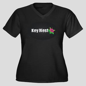 Key West Hibiscus Plus Size T-Shirt