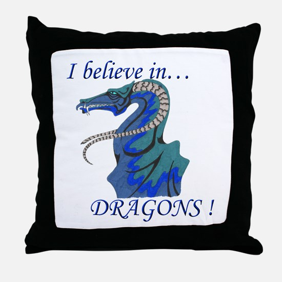 I Believe in DRAGONS! Throw Pillow