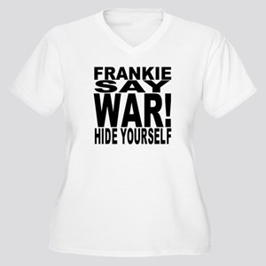 Frankie Say War Women's Plus Size V-Neck T-Shirt