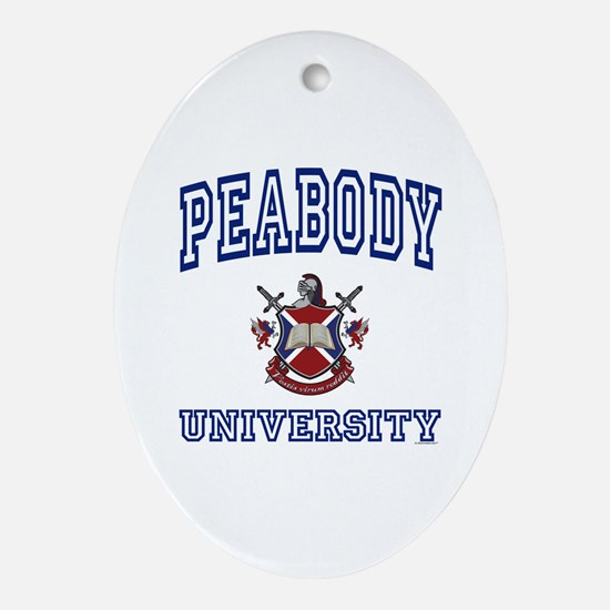 PEABODY University Oval Ornament