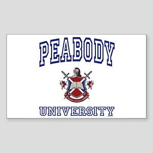 PEABODY University Rectangle Sticker