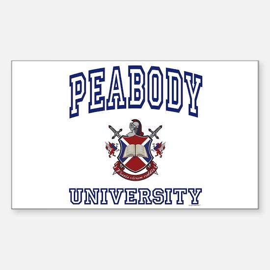 PEABODY University Rectangle Decal