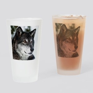 Beautiful Grey Wolf Drinking Glass