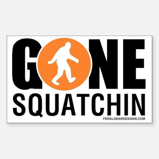 Gone Squatchin Black/Orange Lo Sticker (Rectangle)