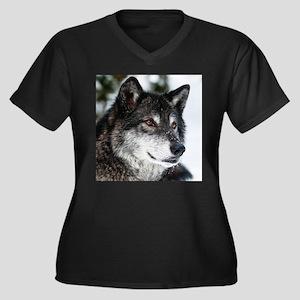 Beautiful Grey Wolf Plus Size T-Shirt