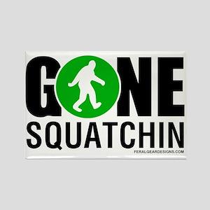 Gone Squatchin Black/Green Logo Rectangle Magnet