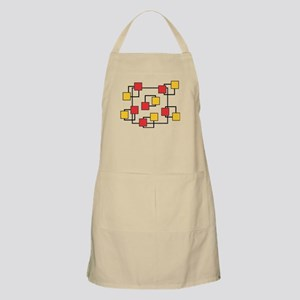 Red and Yellow Squares Light Apron