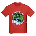 Visualize Whirled Peas Kids Dark T-Shirt
