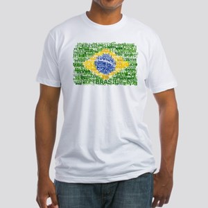 Textual Brasil Fitted T-Shirt