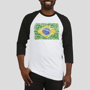 Textual Brasil Baseball Jersey