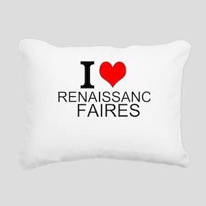 I Love Renaissance Faires Rectangular Canvas Pillo