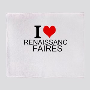 I Love Renaissance Faires Throw Blanket