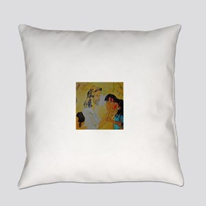 Jesus and his children Everyday Pillow