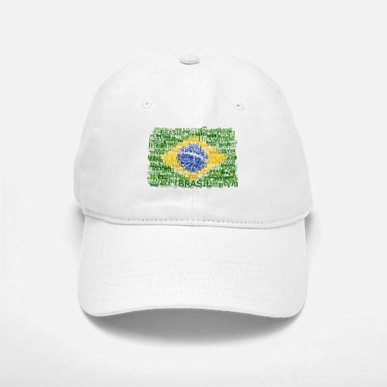 Textual Brasil Baseball Baseball Cap