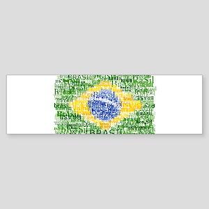Textual Brasil Bumper Sticker