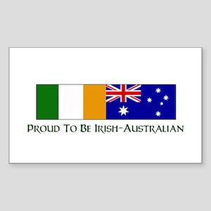 Proud to be Irish Australian Rectangle Sticker