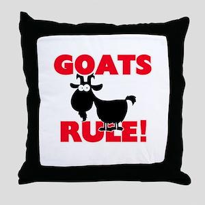 Goats Rule! Throw Pillow