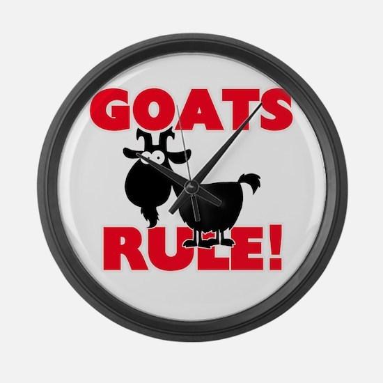Goats Rule! Large Wall Clock