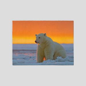 Polar Bear 5'x7'Area Rug