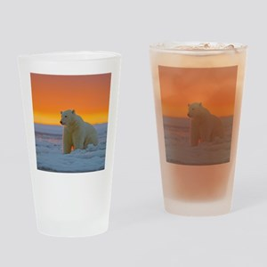 Polar Bear Drinking Glass
