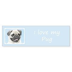 Pug Sticker (Bumper 10 pk)