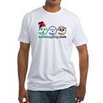 Christmas Eat Stay Play Fitted T-Shirt