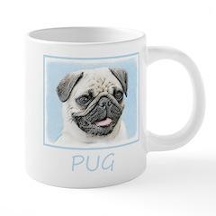 Pug 20 oz Ceramic Mega Mug