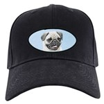 Pug Black Cap with Patch