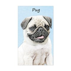 Pug Sticker (Rectangle)