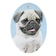 Pug Oval Ornament