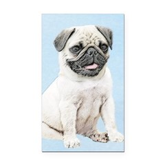 Pug Rectangle Car Magnet