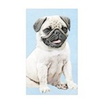 Pug Sticker (Rectangle 10 pk)