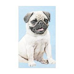 Pug Sticker (Rectangle 50 pk)