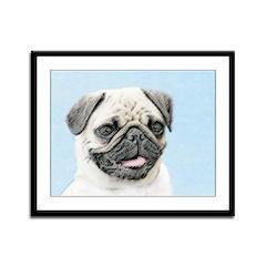 Pug Framed Panel Print