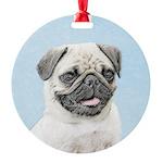 Pug Round Ornament