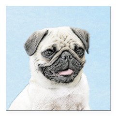 Pug Square Car Magnet 3