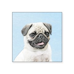 Pug Square Sticker 3