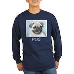 Pug Long Sleeve Dark T-Shirt