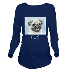 Pug Long Sleeve Maternity T-Shirt