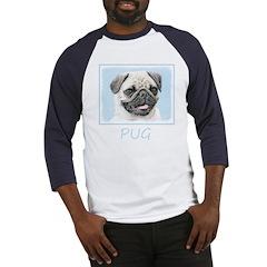 Pug Baseball Tee