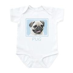 Pug Baby Light Bodysuit