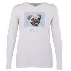 Pug Plus Size Long Sleeve Tee