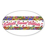 Cubicle Sweet Cubicle Oval Sticker
