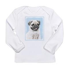 Pug Long Sleeve Infant T-Shirt