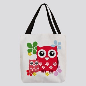 Cute Owls Polyester Tote Bag